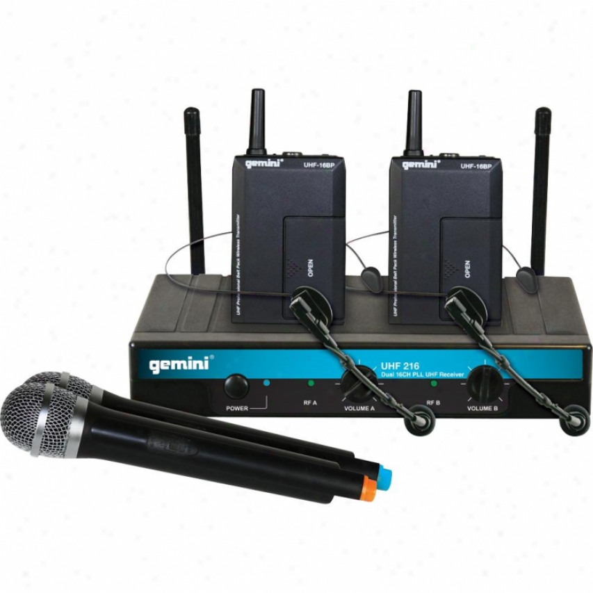 Gemini Uhf-216m 16 Channel Wireless Ujf System