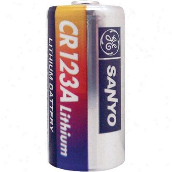 Ge/sanyo Cr123a Flat Battery