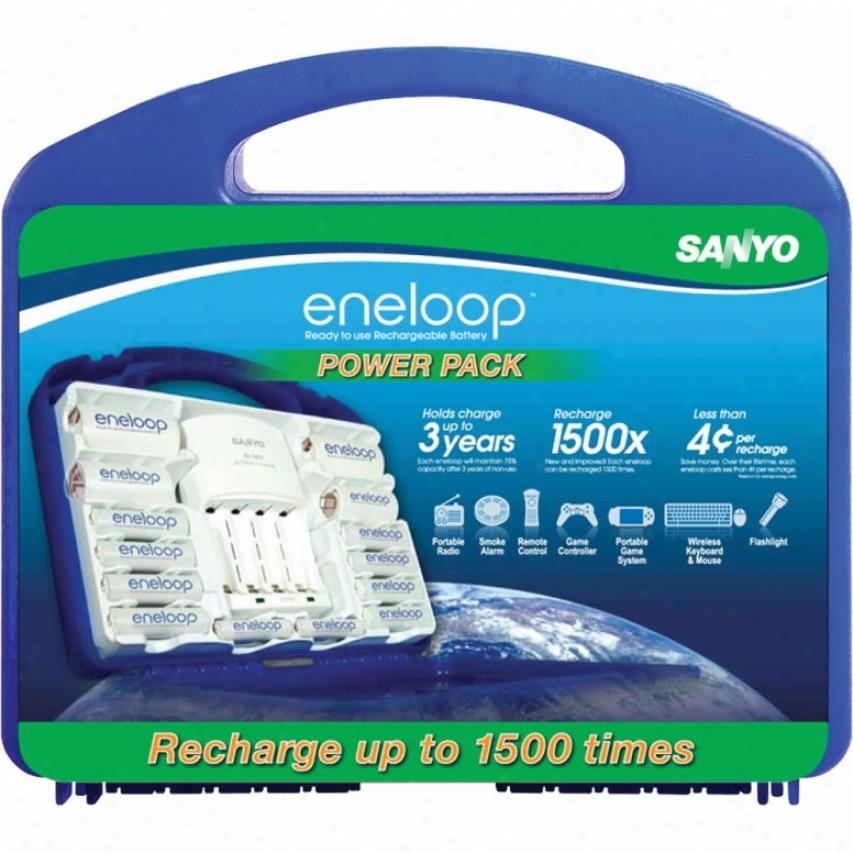 Ge/sanyo Eneloop Starter Kit In Blue Case N10setevp