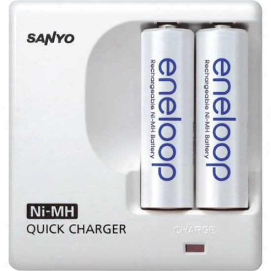 Ge/sanyo Ges-mdr02tg-3u Eneloop Aa Battery Charger Kit