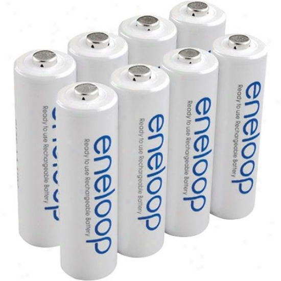 Ge/sanyo Ready To Use Aa Size Rechargeable Batteries Hr3u8bpn