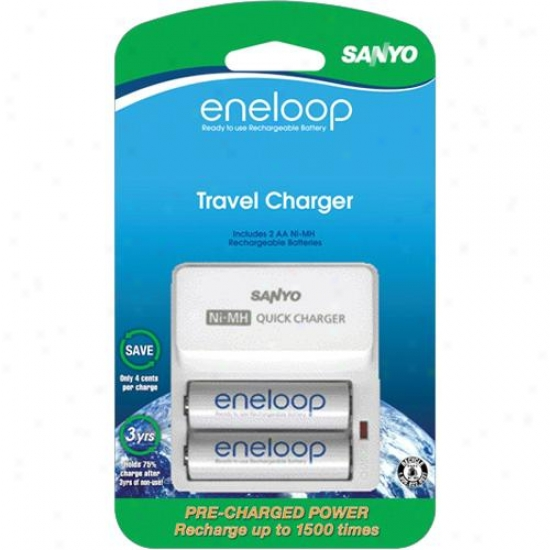 Ge/sanyo Universal 2-position Hasty Aa Batteries Charger Set