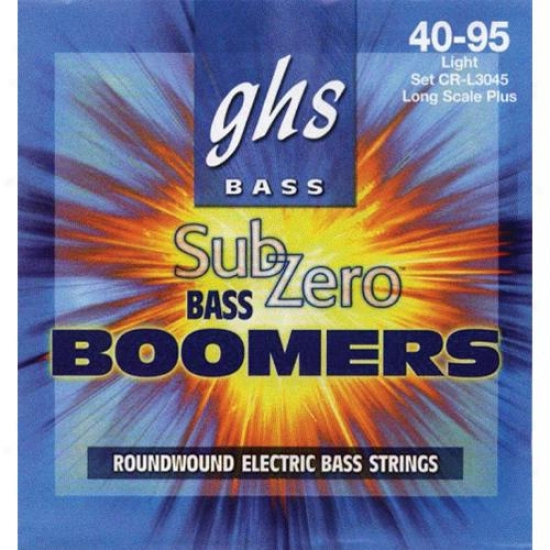Ghs Strings Crl3045 Sub-zero Boomer Lightt Bass Guitar Strings