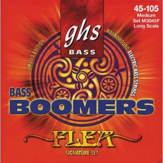 Ghs Strings Flea Signature Bass Boomerss Gyitar Strings - M3045f