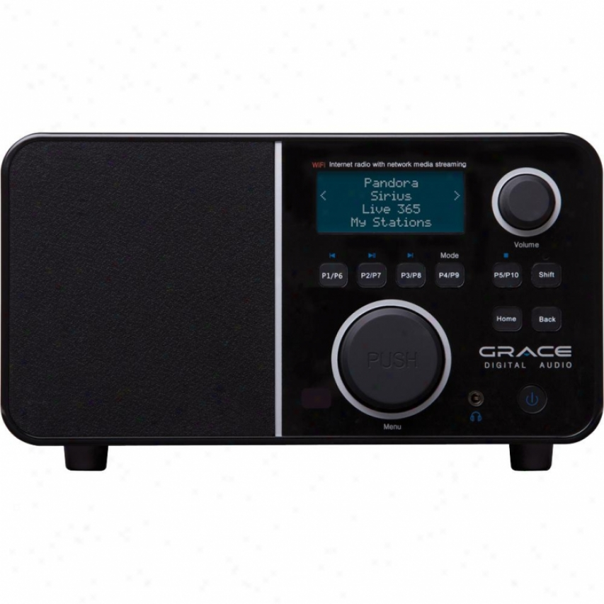 Grace Digital Innovator X Wi-fi Internet Clock Radio & Media Streaamer