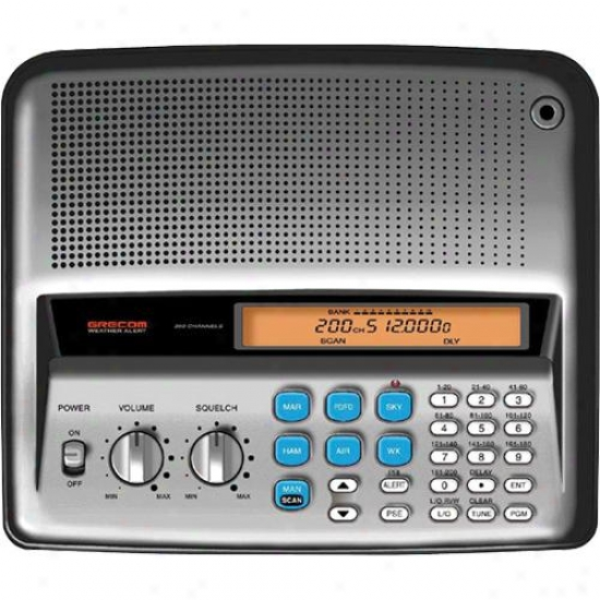 Gre America Psr-200u Desktop Radio Scanner Receivers With Fm