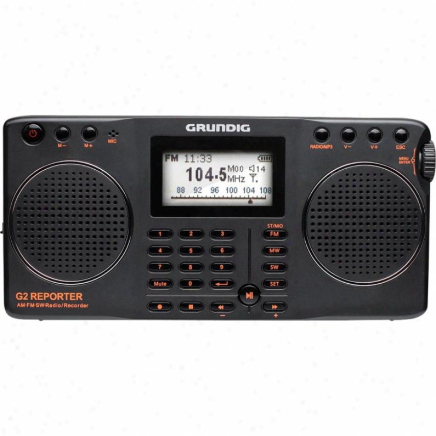 Grhndig Ng2b G 2Reporter Am Fm Shortwave Radio Recorder