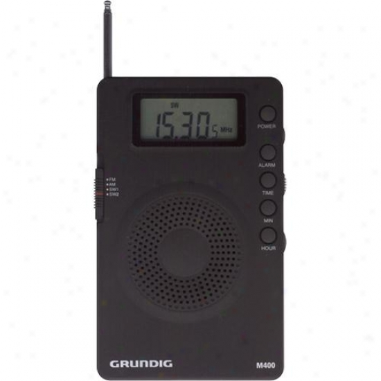 Grundig Ngm400b Mini 400 Super Compact Am/fm Shortwave Radio With Digital Tuner