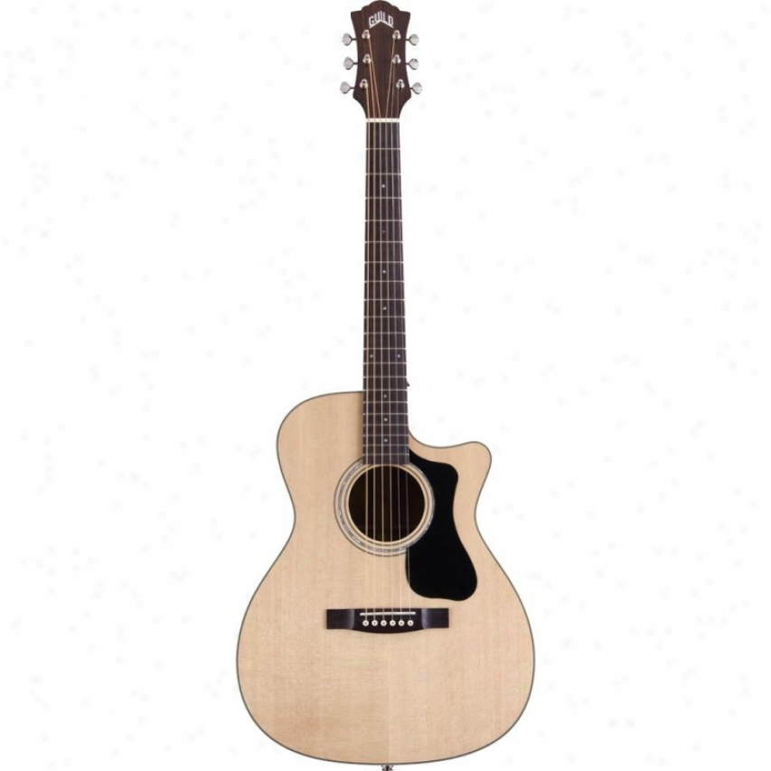 Guild Guitars F-130ce Orchestra Cutaway Acoustic Electric Guitar - Natural