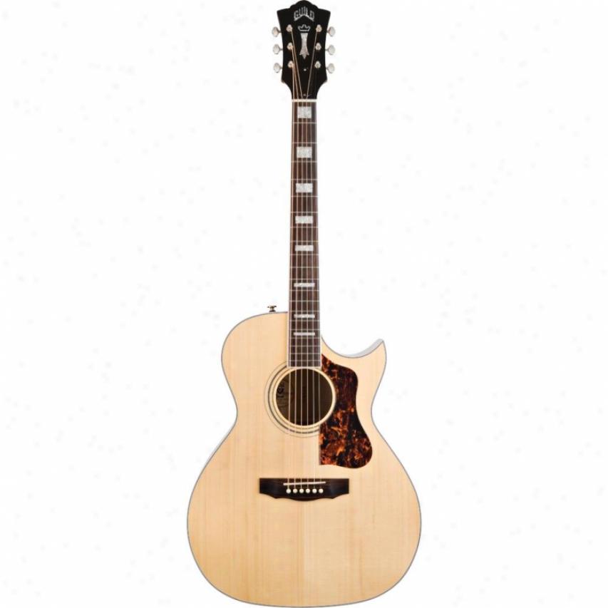 Guild Guitars F-47mc W/ D-tar Acoustic Guitar Blonde 385-4107-801