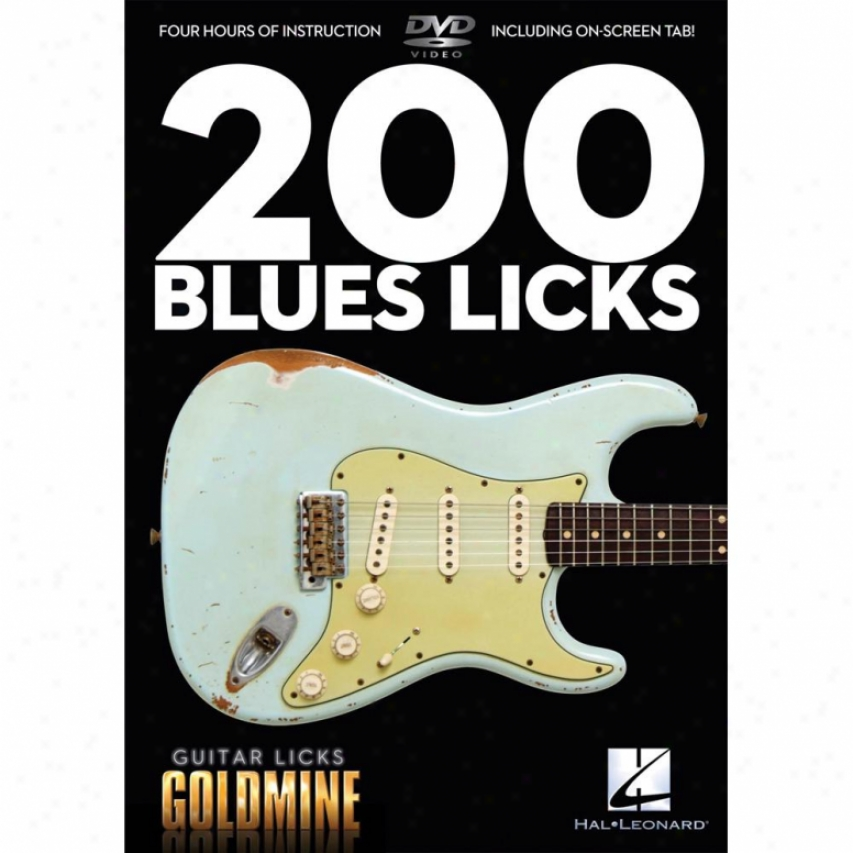 Hal Leonard 200 Bluds Licks - Instruction Dvd