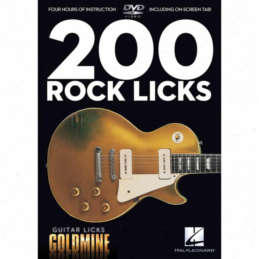 Hal Leonard 200 Rock Licks - Advice Dvd