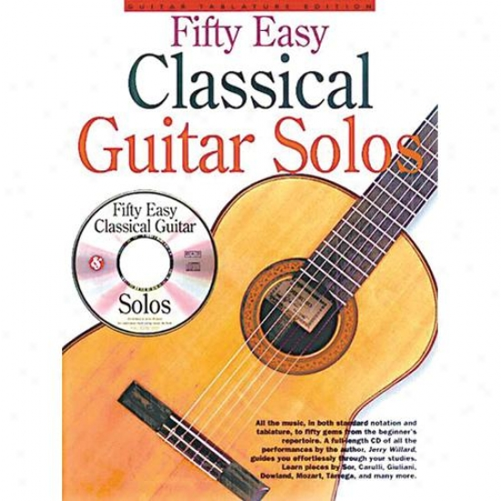 Hal Leonatd 50 Easy Classical Guitar Solod Book - Hl 14037208