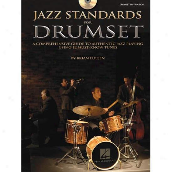 Hal Leonard 6620077 Jazz Standards For Drum Set With Cd