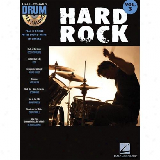 Hal Leonard 699743 Hard Rock Drum Play Along Vol 3 With Cd