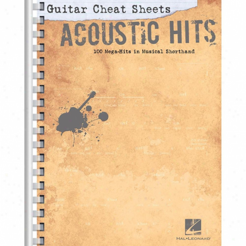 Hal Leonard 70239l Acoustic Cheat Sheets