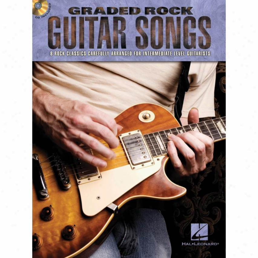 Hal Leonard 702452 Graded Rock Guitar Book With Cd