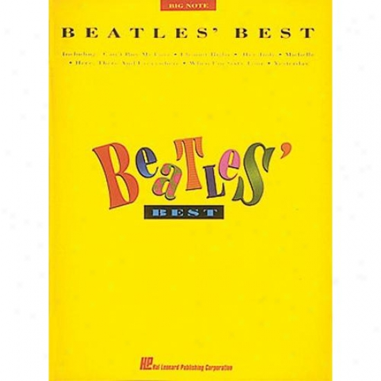 Hzl Leonard Beatles Best For Piano