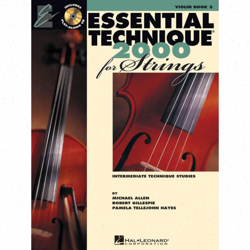 Hal Leonard Essential Technique 2000 Conducive to Strings - Book 3 - Hl 00868074