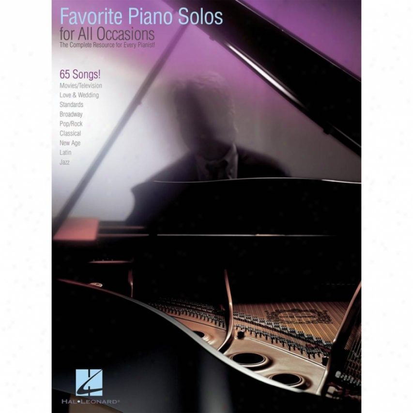 Hal Leonard Favorite Piano Solos For All Occasions Songbook