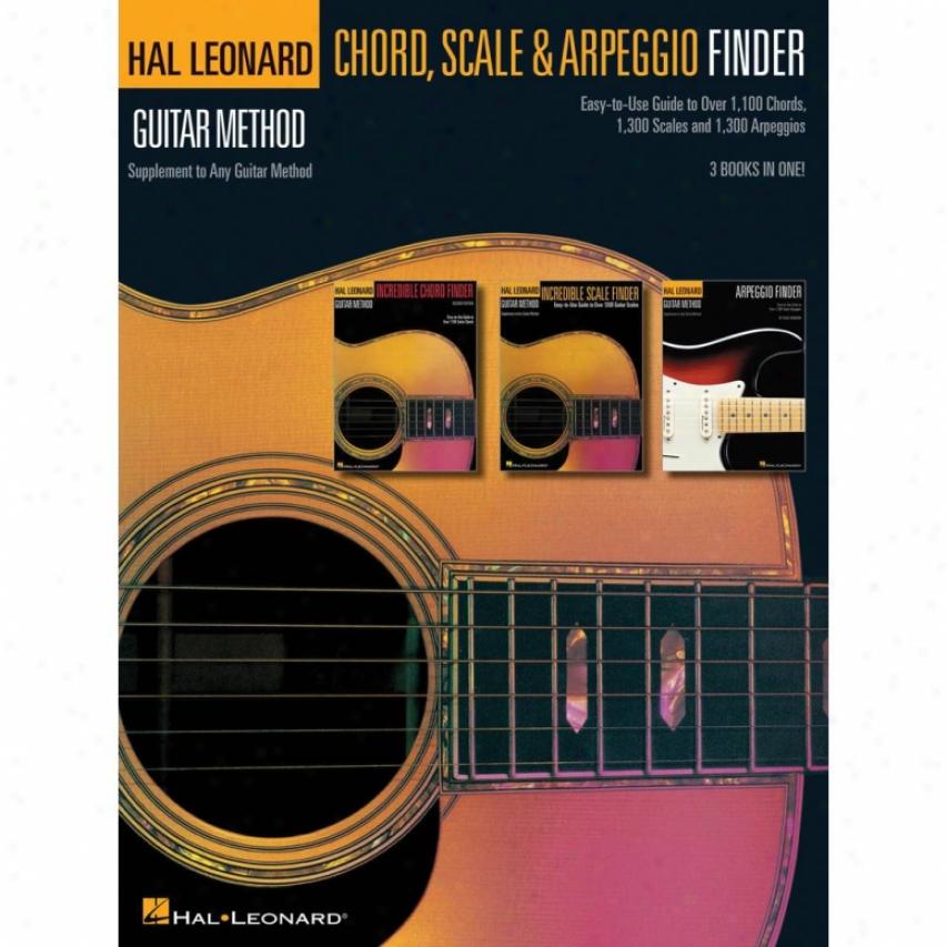 Hal Leonard Guitar Chord, Scale & Arpeggio Finder - Hl 00697410