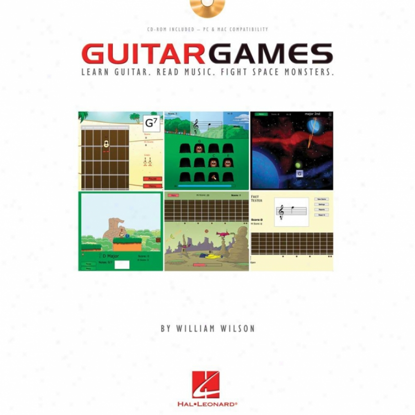 Hal Leonard Guitar Games Book/cd Hl 00696407