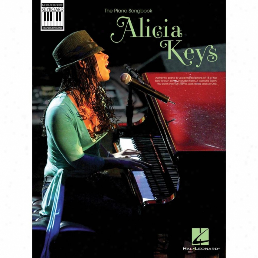 Hal Leonrad Hl 00307096 Alicia Keys - Note-for-note Keyboard Transcriptions