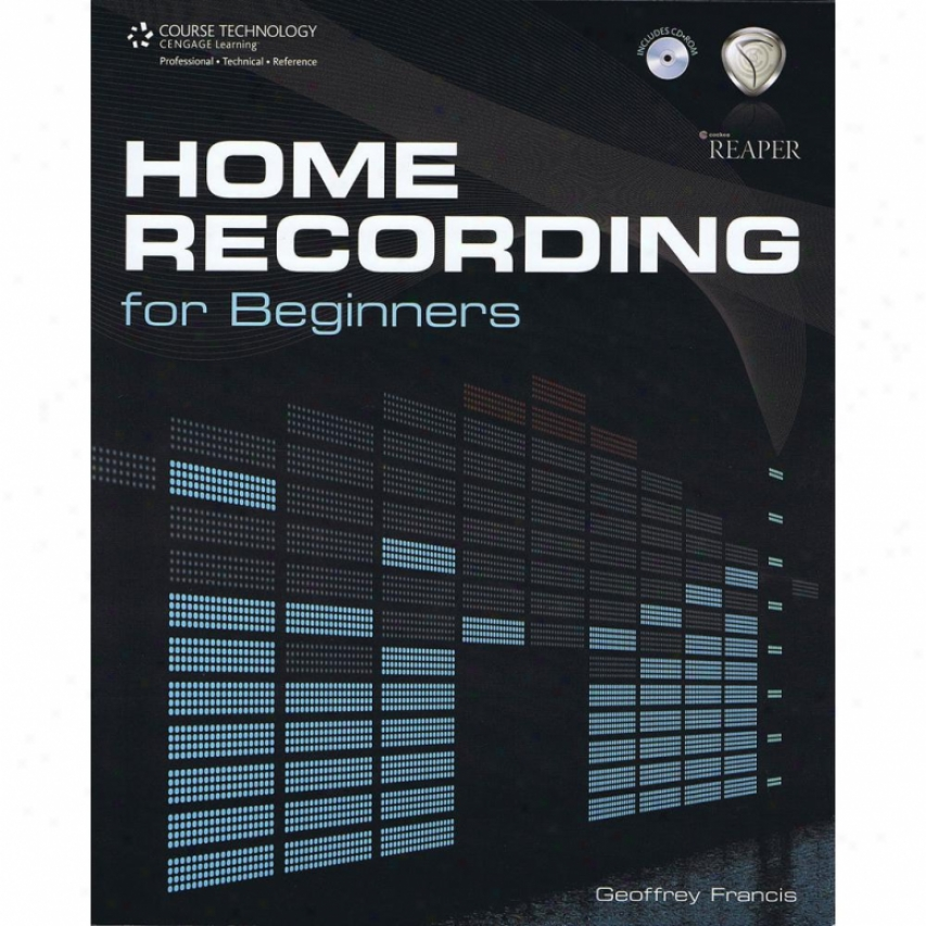 Hal Leonard Hl 00332876 Home Recording For Beginners Instructional Book