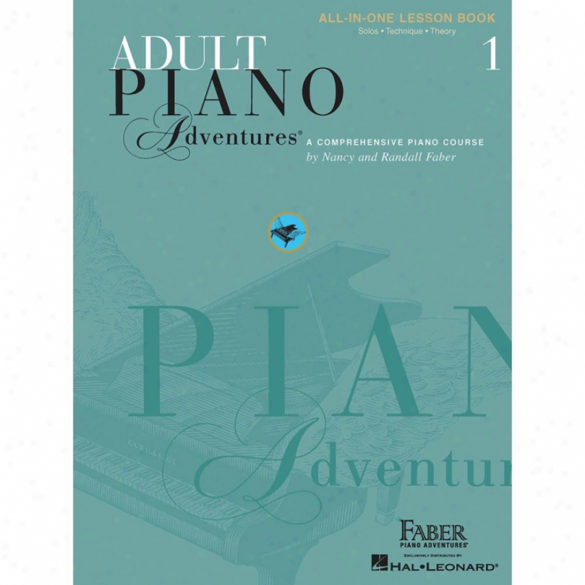 Hal Leonard Hl 00420242 Adult Piano Adventures All-in-one Lesson Book 1