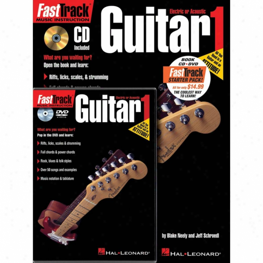 Hal Leonard Hl 00696403 Fasttrack Guitar Method Starter Pack