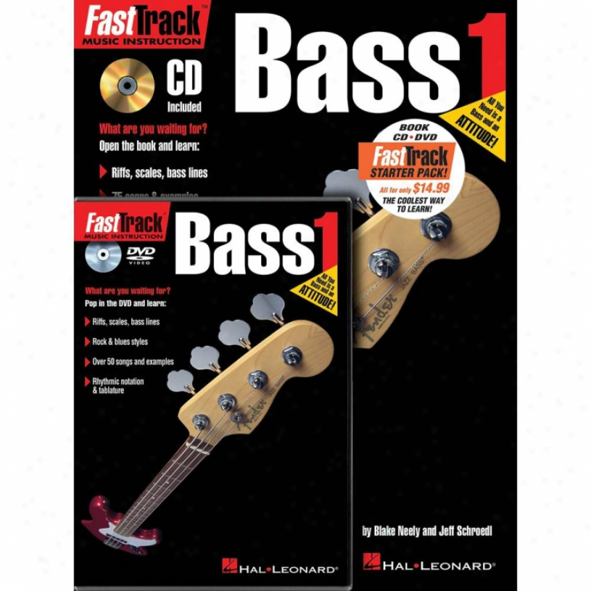 Hal Leonard Hl 00696404 Fasttrack Bass Method Starter Pack