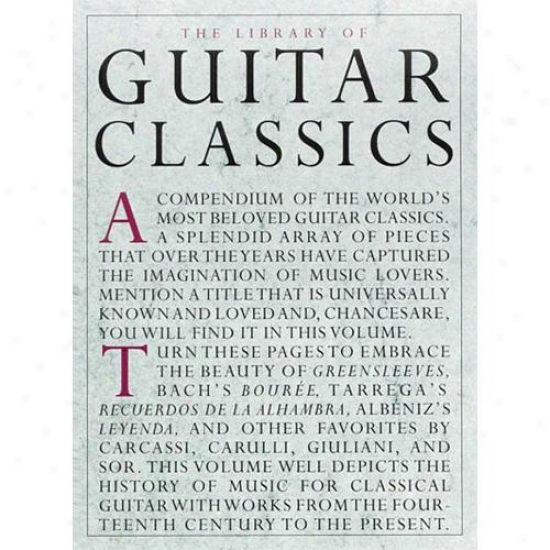 Hal Leonard Library Of Guitar Classics Book - Hl 14019038