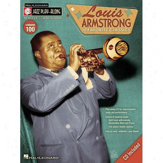 Hal Leonard Loujs Armstrong Jazz Play Along Vol 100 Book And Cd