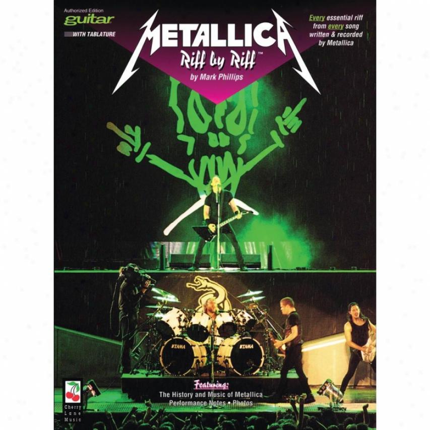 Hal Leonard Metallica - Riff By Riff - Guitar Songbook - Hl 02506313