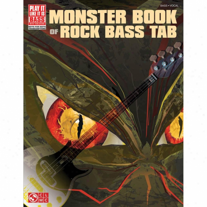 Hal Leonard Monster Book Of Rock Bass Tab Hal 02501476