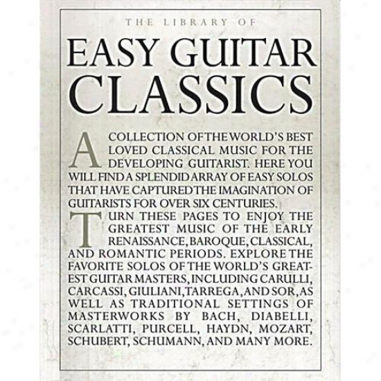 Hal Leonard The Library Of Easy Guitar Classics Bolk - Hl 14019030