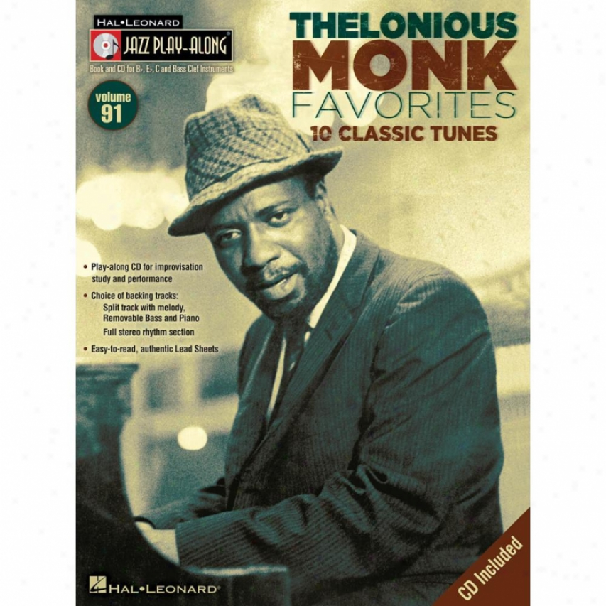 Hal Leonard Thelonious Monk Favorited Songbook - Hl 00841263