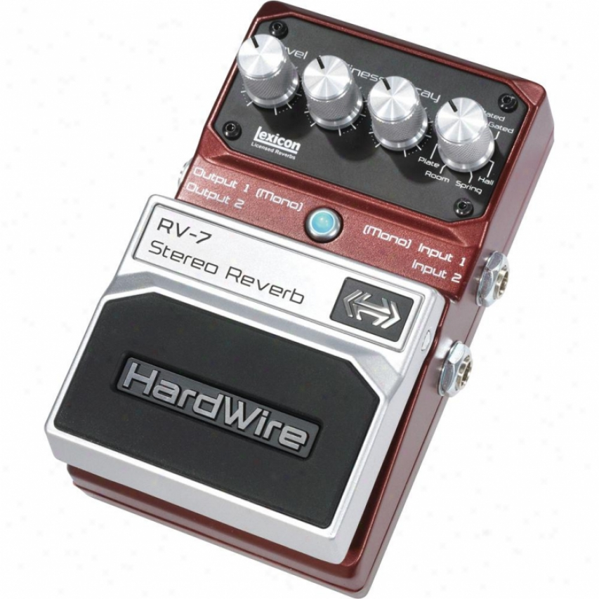 Hardwire Rv7 Stereo Reverb Pedal