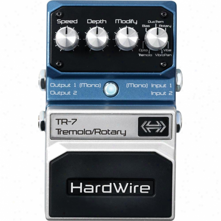 Hardwire Tr-7 Tremolo/rotary Guitar Pedal