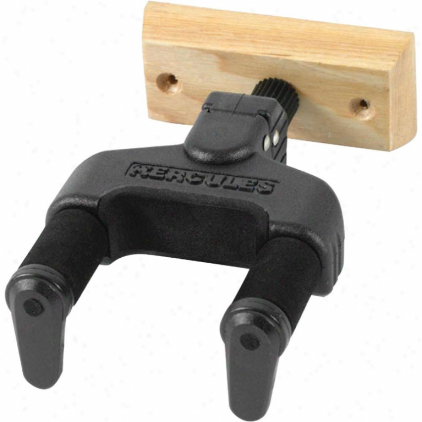 Hercules Stands Gsp38wb Guitar Wall Hanger By the side of Wood Base