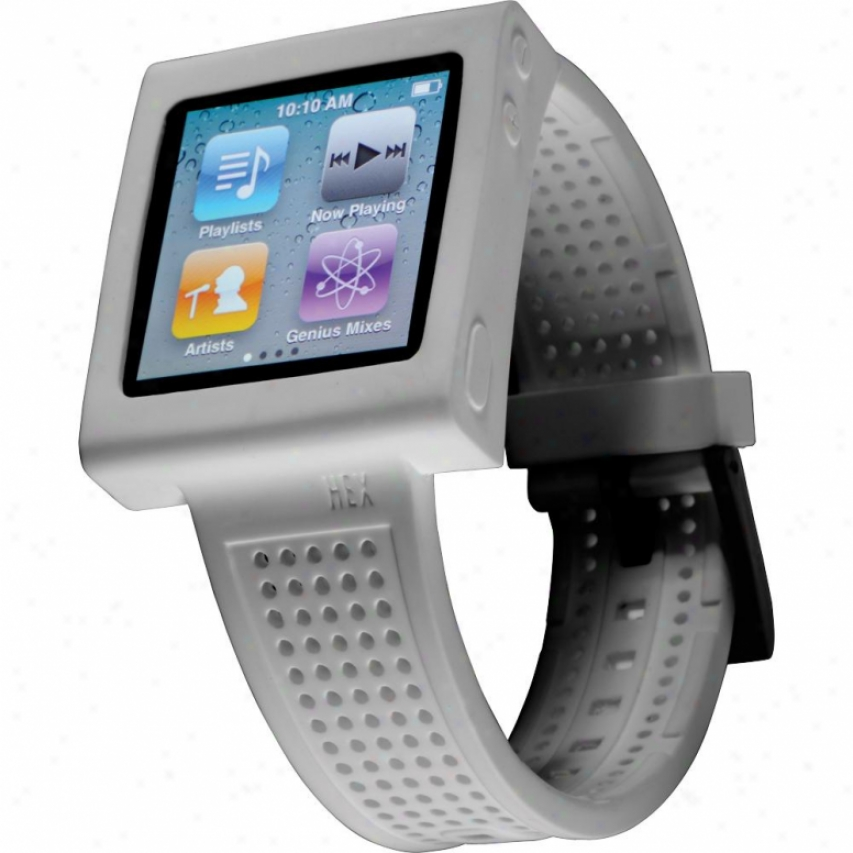 Hex Sport Watchband For Ipod Nano Gen 6 - Hx1005 - Pure