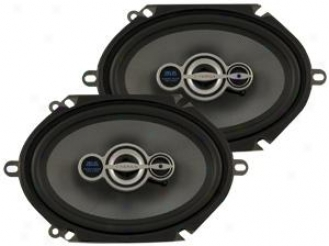 """Hifonics 425 Watt Max Zeus 6x8""""/5x7"""" 3-way Illuminated Speakers W/silk Dome Twe3"""
