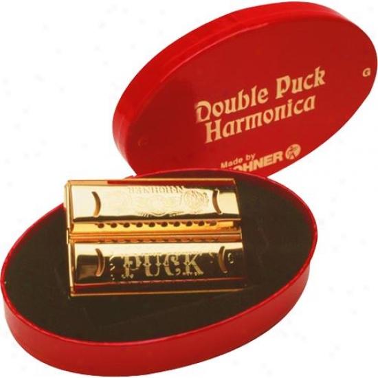 Hohner Harmonica 553cg Double Puck Double Sided Harmonica Keyz Of C And G
