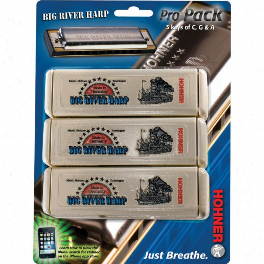 Hohner Harmonica Big River Pro Pack - 3p950