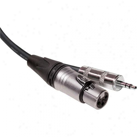 Hosa 15-foot Microphone Cable Xlr3f - 3.5mm Trs - Mxm-015