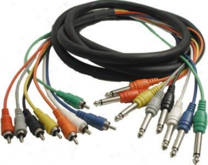 Hosa Cpr803 8 Channel Rca To 1/4 Inch Recording Snake - 3 Meters (9.9ft)