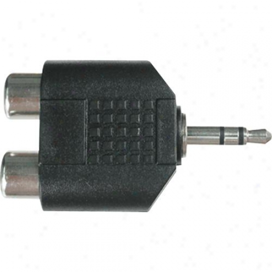 Hosa Grm-193 Two Rca Females To Stereo 3.5mm Male Y Adapter