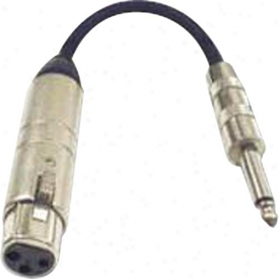 Hosa Mit-176 Xlr3f 1/4&quot; Ts - Mic Impedance Transformer