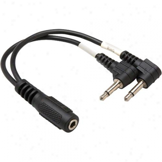 Hosa Stereo 3.55 Mm Jack (f) To Two Right Angle Mono 3.5 Mm Plugs (m), 6 Inch