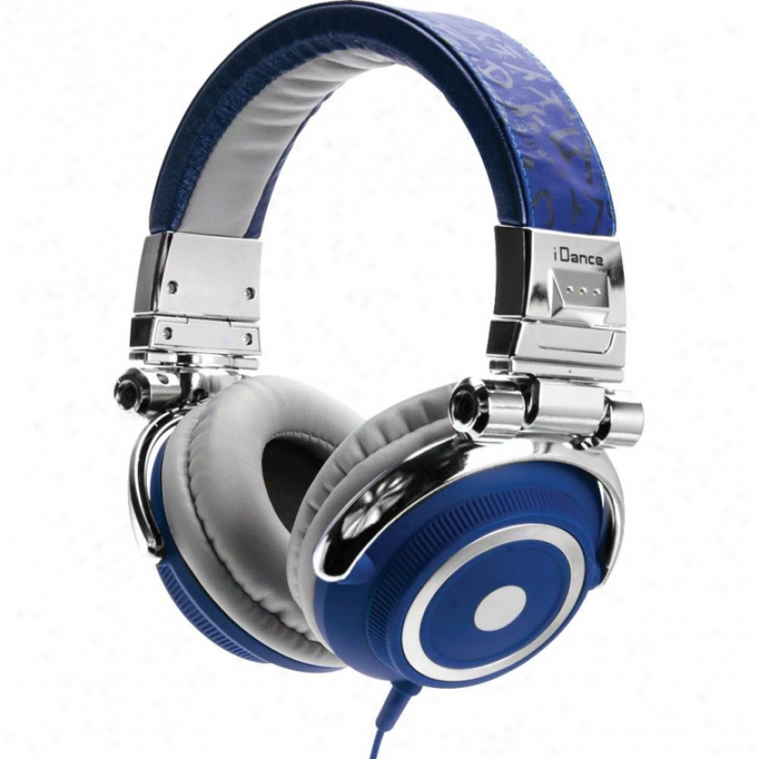 Idance Disco500 Headphones - Blue And Silver